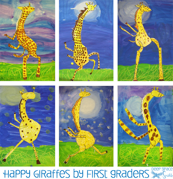 Giraffes-cant-dance-art-project1